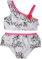 Penelope Mack 2-Pc. Metallic Floral-Print Bikini Swimsuit, Baby Girls (0-24 months)