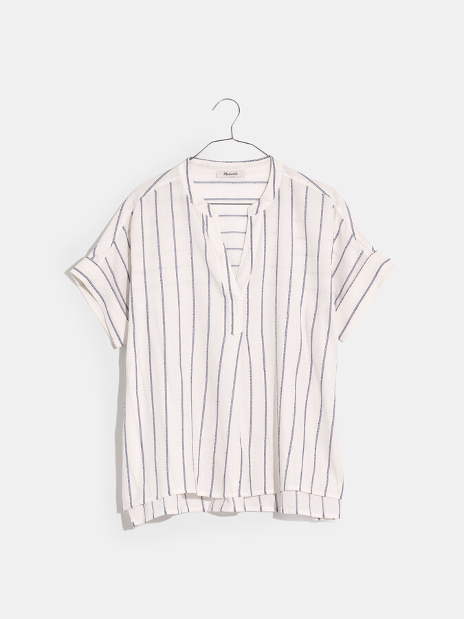 Thumbnail for your product : Madewell Philly Popover in Slub Stripe