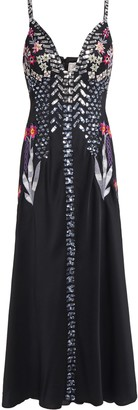 Temperley London Finale Embroidered Embellished Satin-crepe Midi Slip Dress