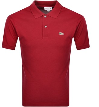 Lacoste Short Sleeved Polo T Shirt Red