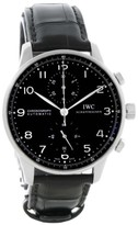 IWC Portuguese IW371447 Stainless Steel & Black Dial Automatic 40.9mm Mens Watch