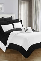 Bathilda Hotel Collection Modern Two-Tone Reversible 10-Piece Bed In a Bag Comforter Set - Black