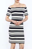 Alythea Stripe Off Shoulder Dress
