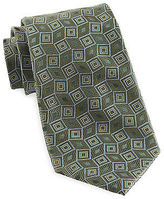 Gold Series Designed in Italy Grid Silk Tie Casual Male XL Big & Tall