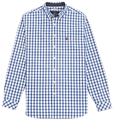 Joules Hewney Classic Fit Check Shirt, Blue/white