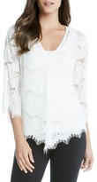 Karen Kane Women's Flare Sleeve Lace Top