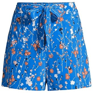 Equipment Taimee Floral Silk Shorts