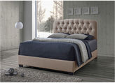 Asstd National Brand Baxton Studio Romeo Contemporary Button-Tufted Upholstered Bed