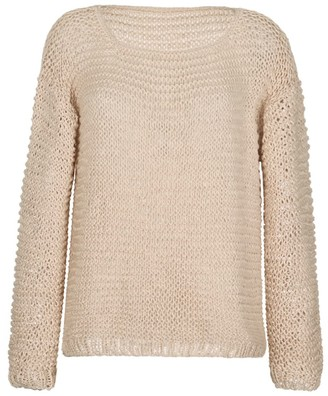 Thierra Nuestra Gala Beige Hand-Crocheted Sweater