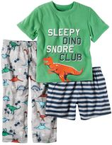Carter's Toddler Boy Graphic Tee, Print Pants & Shorts Pajama Set