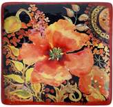 Certified International Watercolor Poppies 12-in. Square Platter