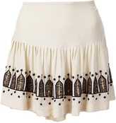 Figue 'Chachani' embroidered pleated skirt - women - Silk - 2