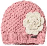 Barts Pink Knitted Rose Beanie