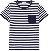 Il Gufo Navy Stripe Pocket Tee