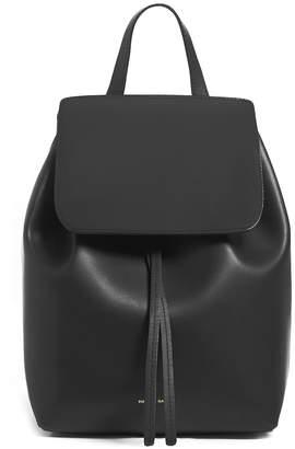 Mansur Gavriel Coated Mini Backpack in Black & Flamma   FWRD