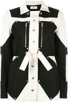 Courreges colour block parka jacket - women - Cotton/Spandex/Elastane - 36
