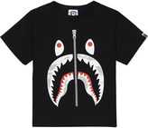 A Bathing Ape Glow-in-the-dark zip shark cotton T-shirt 4-8 years