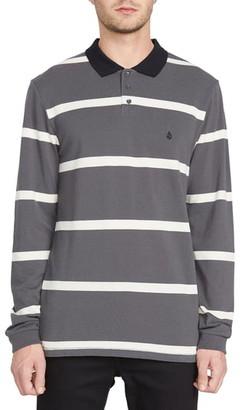 Volcom Bracer Long Sleeve Stripe Pique Polo