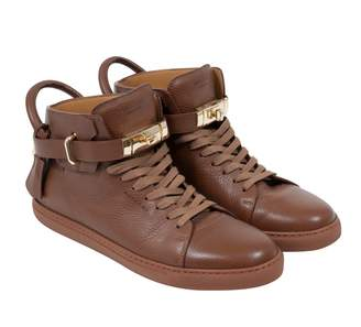 Buscemi Brown Leather Trainers