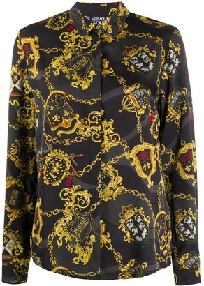 Versace Jeans Couture Chain Crest Print Shirt
