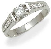 Tatitoto Engagement Women's Ring in 18k Gold with Cubic Zirconia, Size 5.5, 3.4 Grams