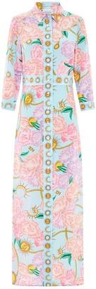 Hayley Menzies Luna Flora Long Shirt Dress
