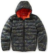 Class Club Little Boys 2T-7 Camo Print Palpable Down Puffer Jacket
