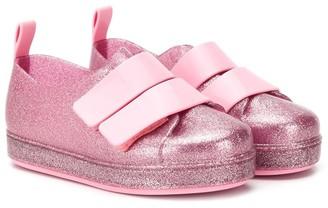 Mini Melissa Glitter Plimsoll Sneakers