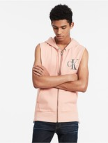 Calvin Klein Hooded Sleeveless Full Zip Vest