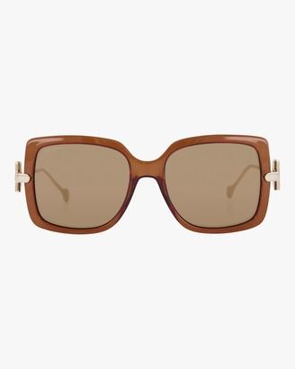 Salvatore Ferragamo Gancino Oversized Sunglasses