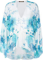 Roberto Cavalli coral reef print blouse