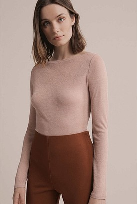 Witchery Lurex Boat Neck Top