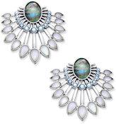 Lucky Brand Silver-Tone Multi-Stone Chandelier Earrings