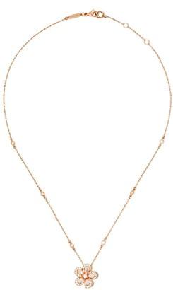 David Morris 18kt rose gold diamond Miss Daisy Single Flower pendant necklace