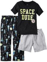 "Carter's Toddler Boy Space Dude"" Tee, Spaceship Pants & Solid Shorts Pajama Set"