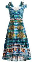 Peter Pilotto Contrast-print cotton-poplin midi dress
