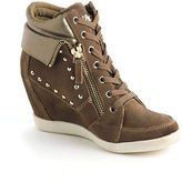 GUESS Hitzo Studded Suede Hidden Wedge Sneakers