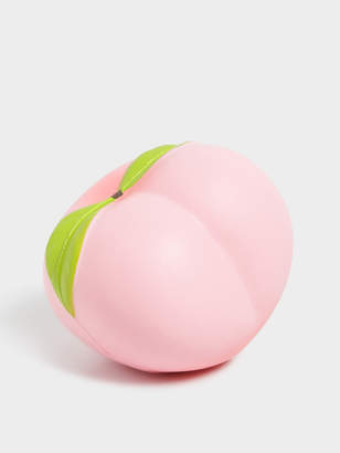 Nixon Typo Peach Novelty Squishy in Pink