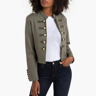 Only Short Military Jacket with Mandarin Collar