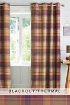 Next Kingsley Woven Check Eyelet Blackout/Thermal Curtains - Purple