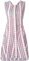 Carven striped sleeveless flared dress
