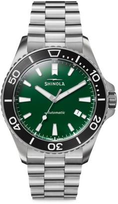 Shinola The Lake Ontario Monster Automatic Stainless Steel Bracelet Watch