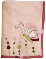 Lambs & Ivy Raspberry Swirl Plush Blanket
