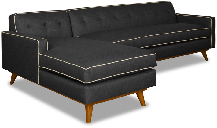 Phenomenal Microfiber Sectional Sofa With Chaise Shopstyle Machost Co Dining Chair Design Ideas Machostcouk