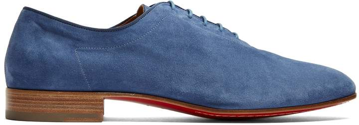 Christian Louboutin Alfred soft-suede derby shoes