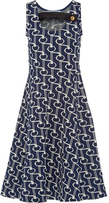 Prada jacquard motif jersey dress