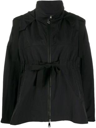 Moncler Belted-Waist Hooded Jacket