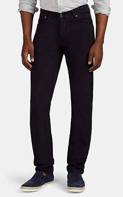 Marco Pescarolo Men's Cotton-Silk Five-Pocket Trousers - Navy
