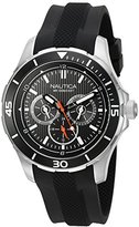 Nautica Men's NAD13523G NST 10 Analog Display Quartz Black Watch