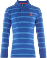 Benetton Boys Thin Striped Polo Shirt